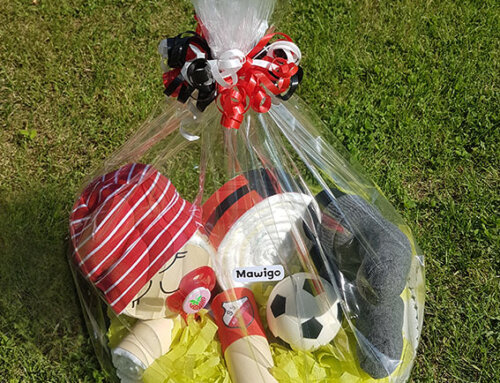 Windel-Fußball-Baby in Ihren Vereinsfarben