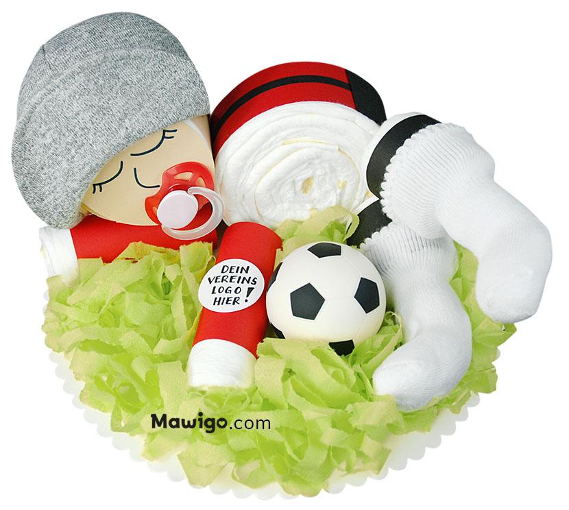 Mawigo Windel-Fußball-Baby rot